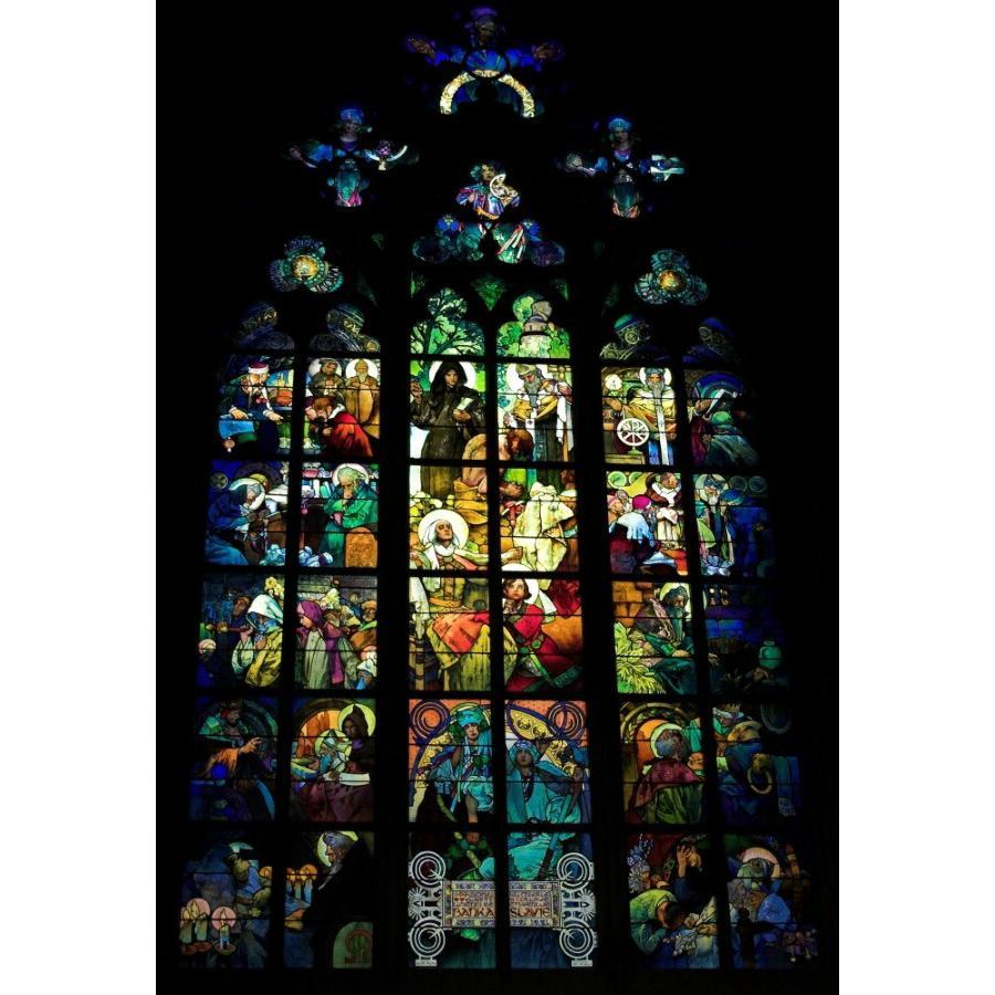 絵画風 壁紙ポスター ミュシャの窓 絵画 アルフォンス ミュシャ プラハ聖ヴィート大聖堂 ステンドグラス絵画 1930年代 K Mch 013s2 414mm 603mm K Mch 011s2 レアルインターショップ 通販 Yahoo ショッピング
