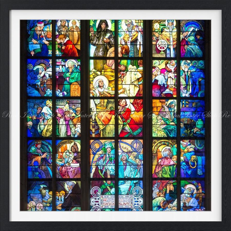 絵画風 壁紙ポスター ミュシャの窓 絵画 アルフォンス ミュシャ プラハ聖ヴィート大聖堂 ステンドグラス絵画 額縁印刷 K Mch 014sgf1 594mm 594mm K Mch 014sgf1 レアルインターショップ 通販 Yahoo ショッピング