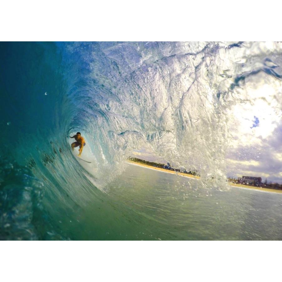 絵画風 壁紙ポスター サーフィン チューブ 波 トンネル 海 サーファー