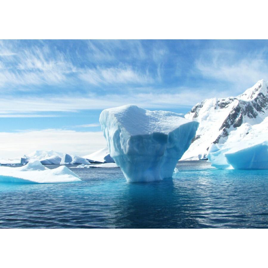 絵画風 壁紙ポスター 南極の氷山 氷 流氷 氷河 南極大陸 涼しい 癒し