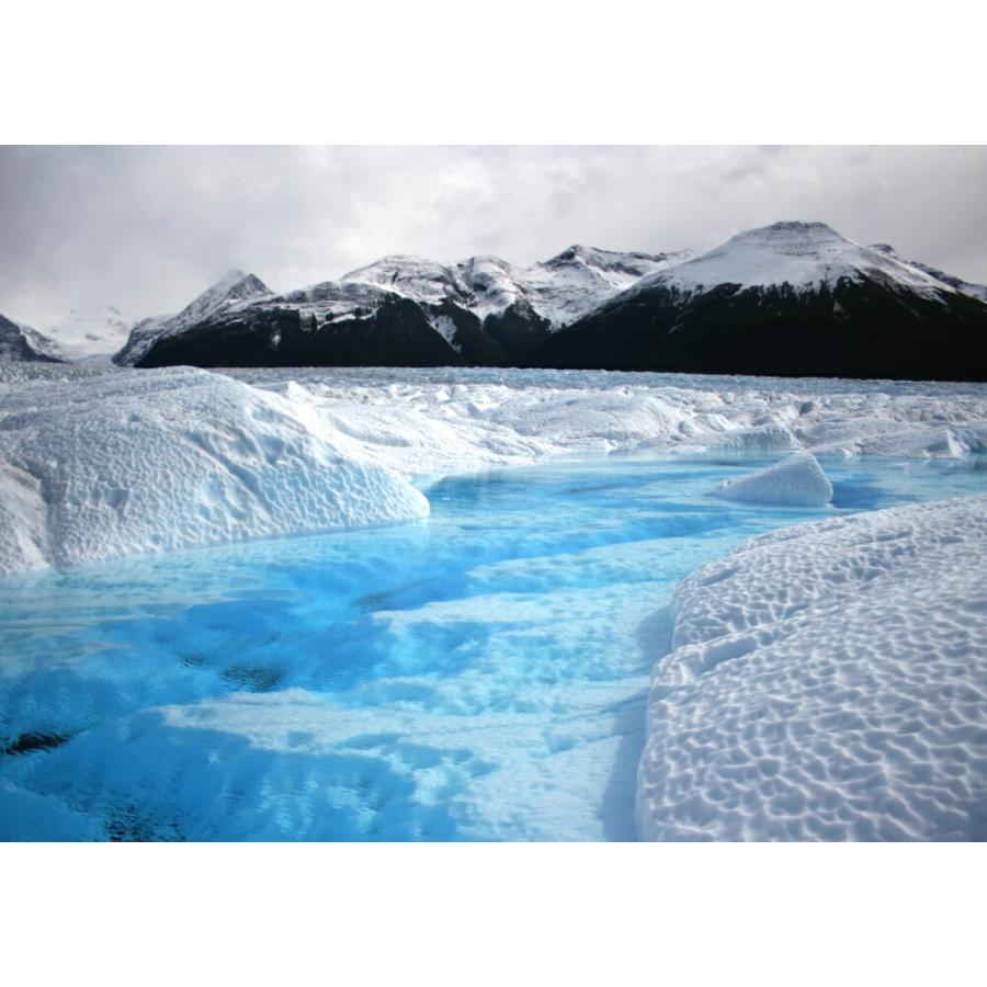 絵画風 壁紙ポスター パタゴニアの氷河 アルゼンチン 氷 流氷 氷山