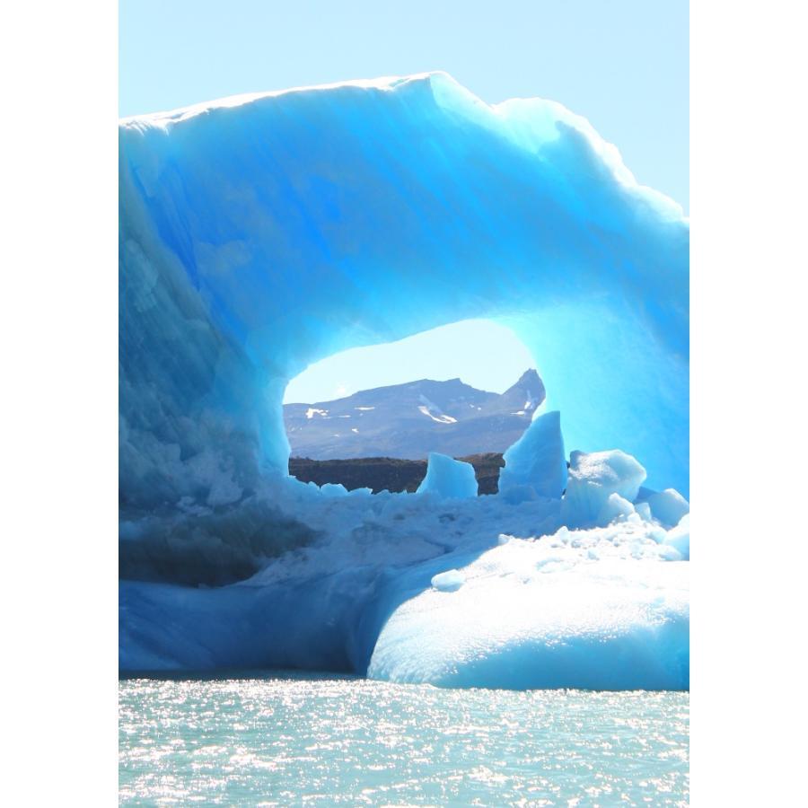 絵画風 壁紙ポスター パタゴニアの氷山 アルゼンチン 氷 氷河 流氷