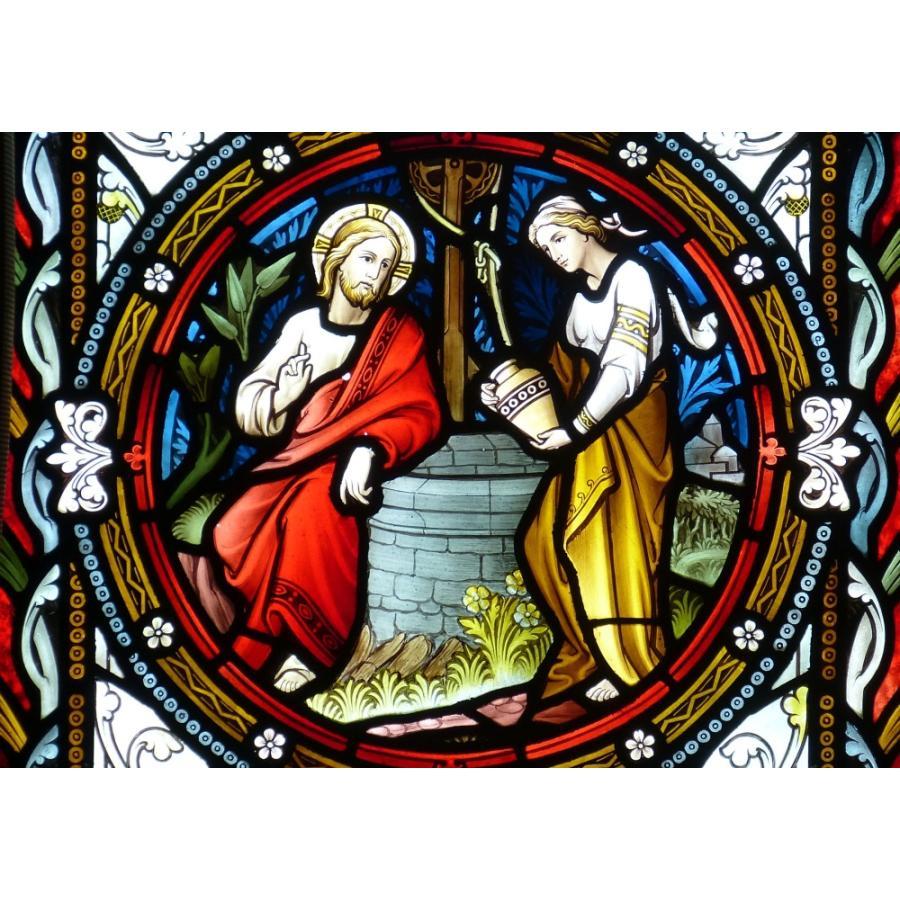 絵画風 壁紙ポスター ステンドグラス キリスト教 教会の窓 キャラクロ