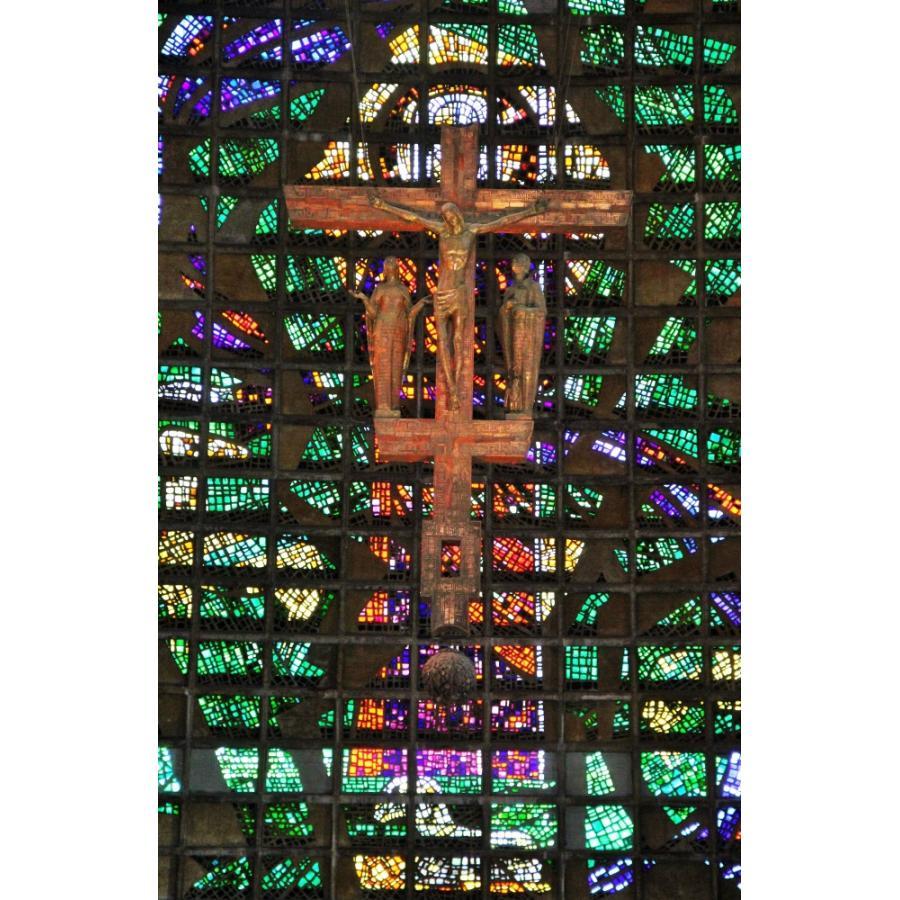 絵画風 壁紙ポスター カテドラル メトロポリターナ大聖堂 ステンドグラス リオデジャネイロ 十字架 キリスト教 キャラクロ Wsdg 014s2 390mm 603mm Wsdg 014s2 レアルインターショップ 通販 Yahoo ショッピング