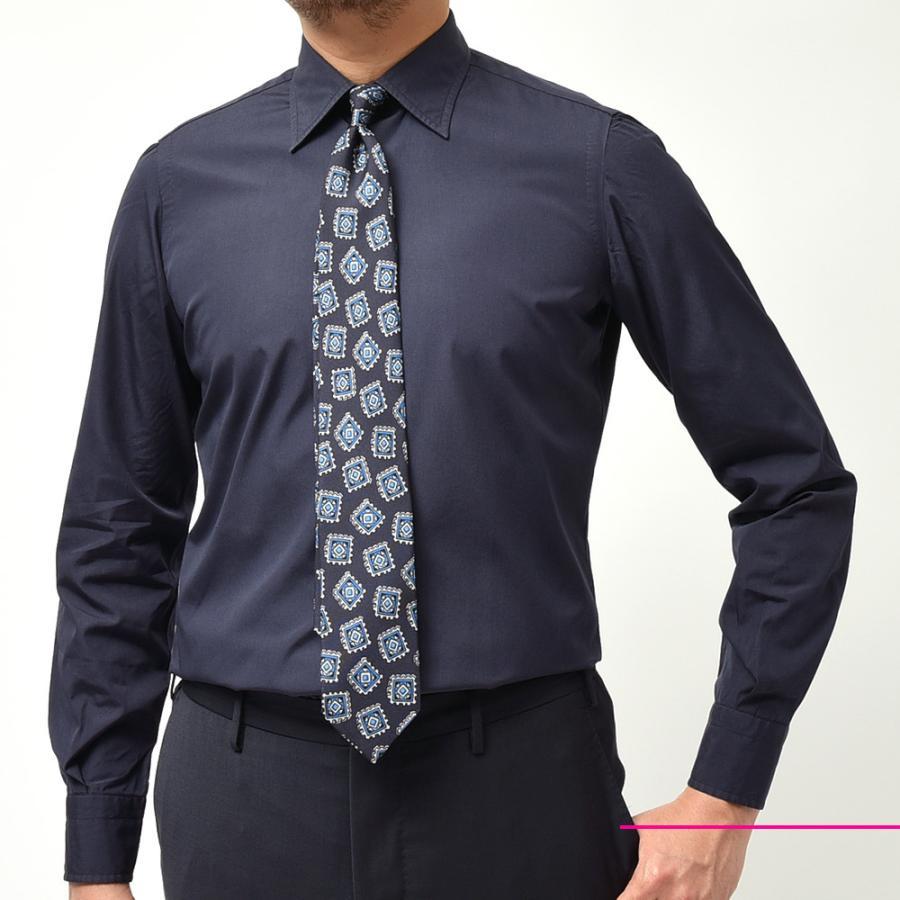 STILE LATINO スティレ ラティーノ コットン ブロード セミワイドカラー ドレスシャツ|realclothing|02