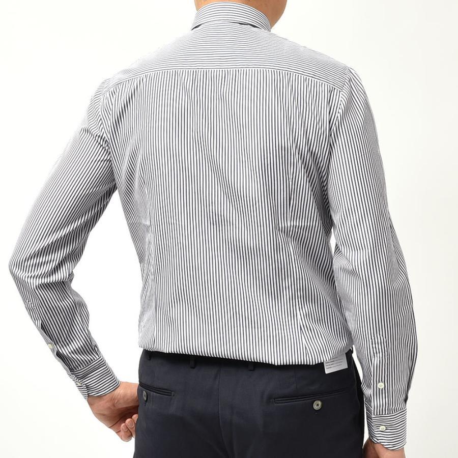 STILE LATINO スティレ ラティーノ コットン ブロード ストライプ セミワイドカラー ドレスシャツ|realclothing|03