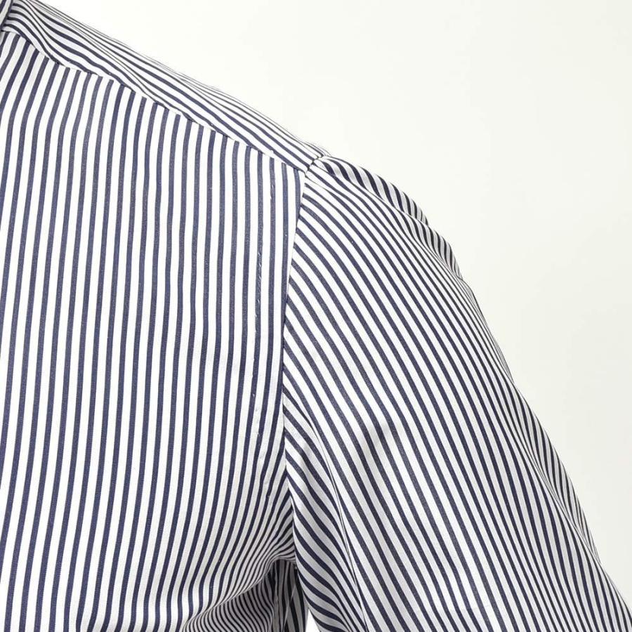 STILE LATINO スティレ ラティーノ コットン ブロード ストライプ セミワイドカラー ドレスシャツ|realclothing|05