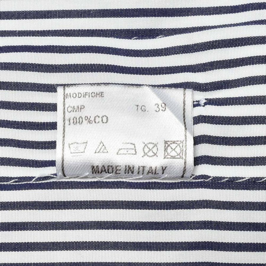 STILE LATINO スティレ ラティーノ コットン ブロード ストライプ セミワイドカラー ドレスシャツ|realclothing|08