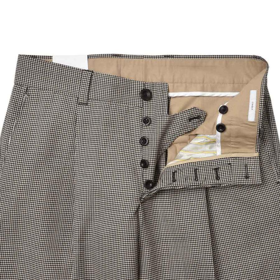 PT TORINO ピーティー トリノ EDGE ウール ハウンドトゥース 1プリーツ パンツ CINQUE|realclothing|08