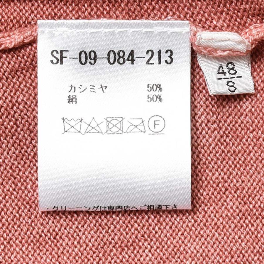 Settefili Cashmere セッテフィーリ カシミア カシミヤ シルク ガーメントダイ クルーネック ニット|realclothing|11