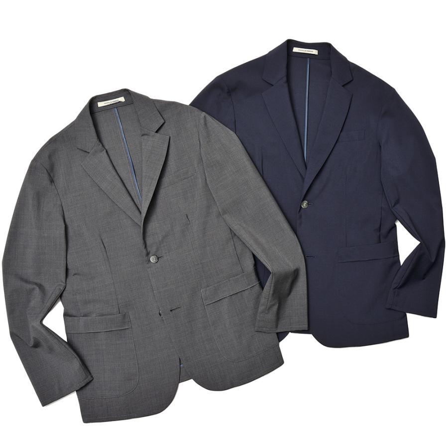 giab's ARCHIVIO ジャブスアルキヴィオ STROZZI ニューテクノウール ストレッチ セットアップ対応 シングル2Bジャケット realclothing