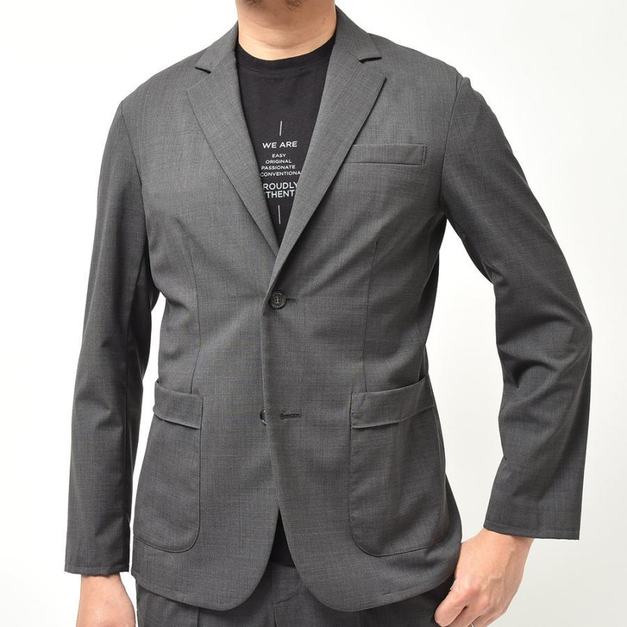 giab's ARCHIVIO ジャブスアルキヴィオ STROZZI ニューテクノウール ストレッチ セットアップ対応 シングル2Bジャケット realclothing 03