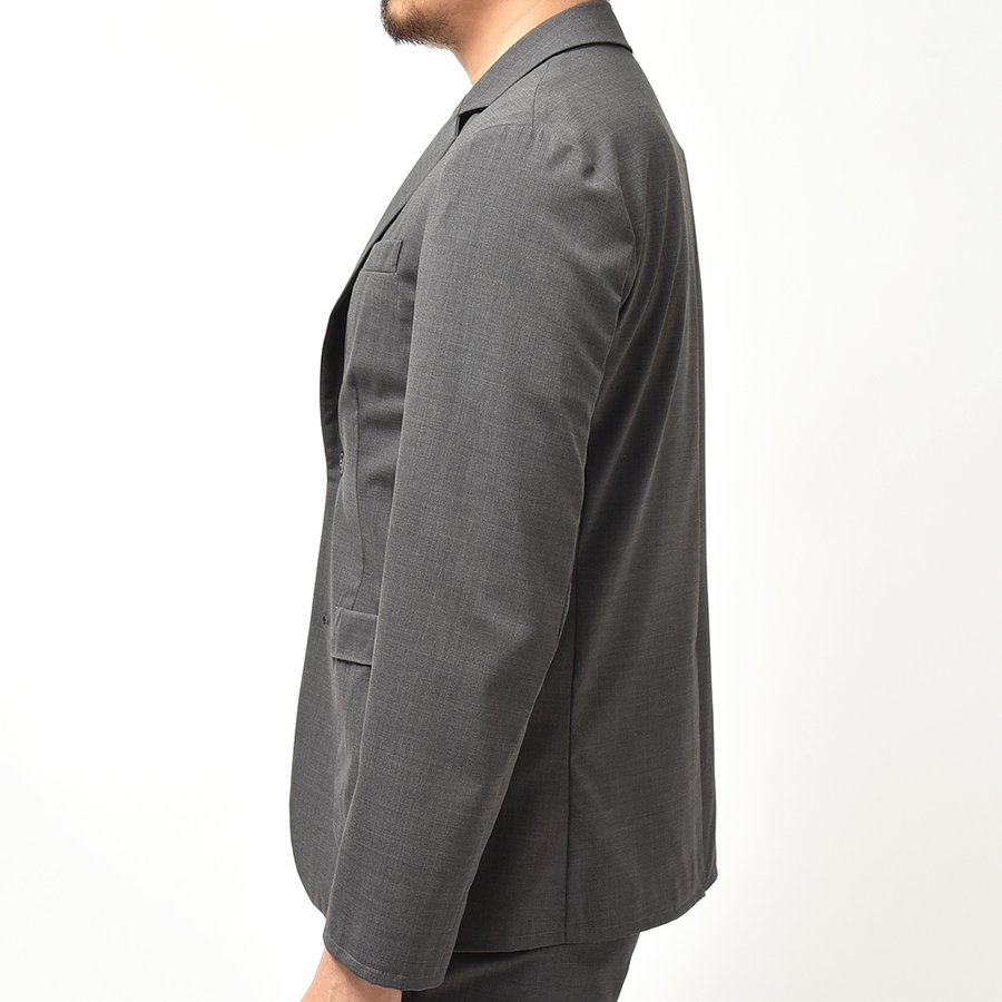 giab's ARCHIVIO ジャブスアルキヴィオ STROZZI ニューテクノウール ストレッチ セットアップ対応 シングル2Bジャケット realclothing 05