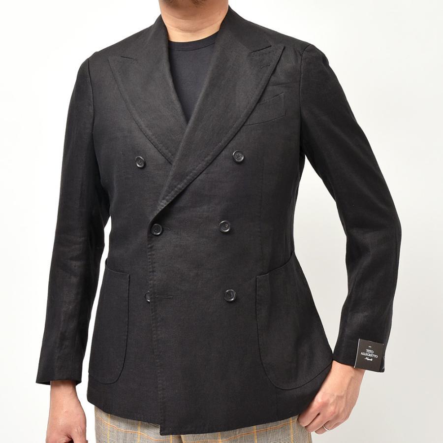 TITO ALLEGRETTO ティト アレグレット リネン ツイル ダブル6Bジャケット realclothing 03
