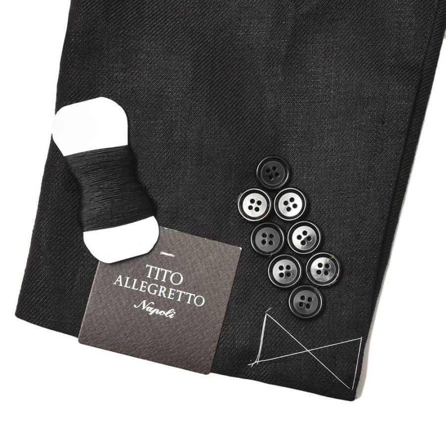 TITO ALLEGRETTO ティト アレグレット リネン ツイル ダブル6Bジャケット realclothing 09