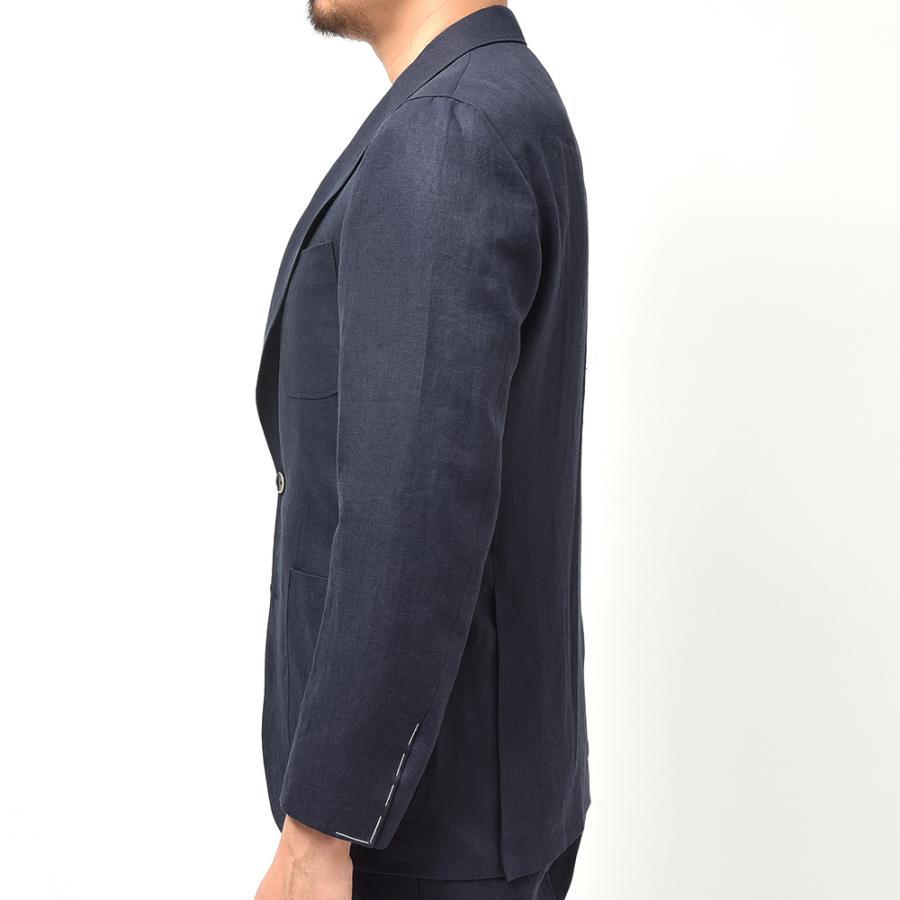 Paul Stuart ポールスチュアート リネン ヘリンボーン セットアップ対応 アンコン仕立て シングル2Bジャケット|realclothing|05