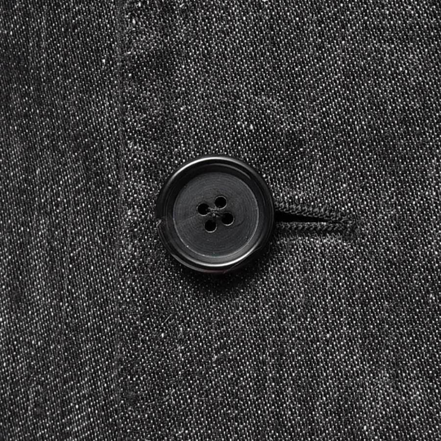 TITO ALLEGRETTO ティト アレグレット リネン ブラックデニム ダブル6Bジャケット|realclothing|08