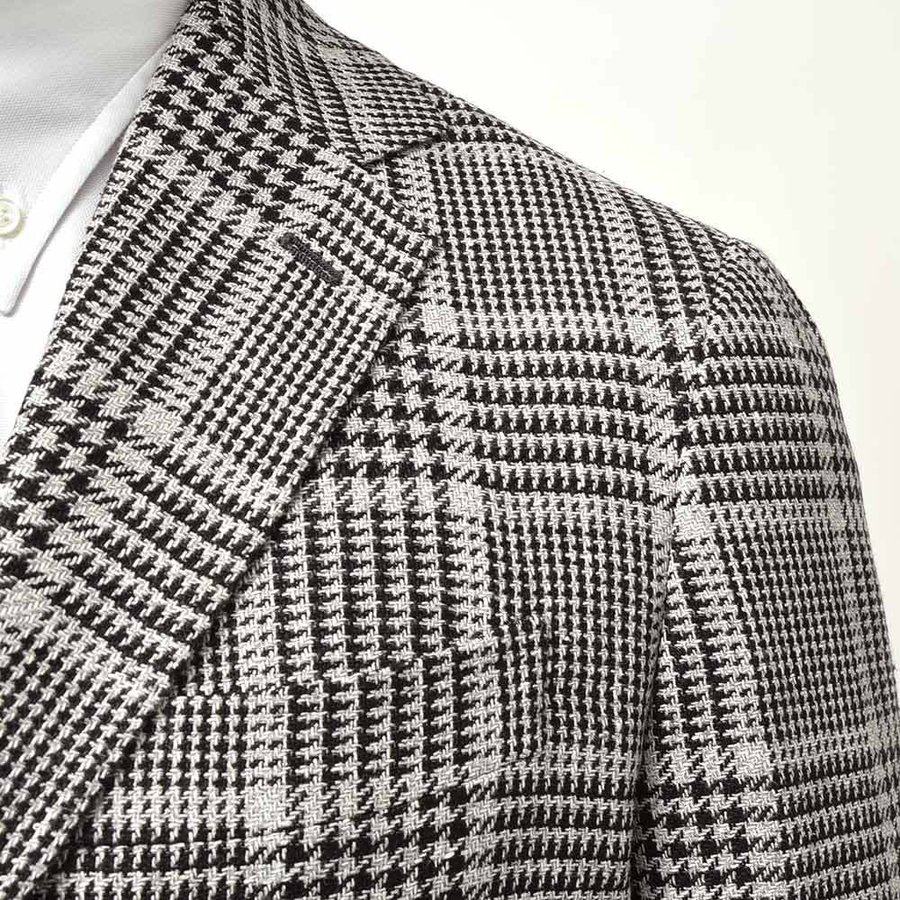 STILE LATINO スティレ ラティーノ リネン シルク ウール コットン グレンチェック シングル3Bジャケット VINCENZO|realclothing|07