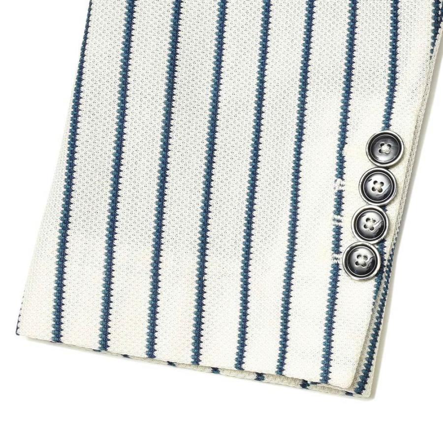 CIRCOLO 1901 チルコロ1901 コットン ジャージー ストライプ シングル2Bジャケット|realclothing|09