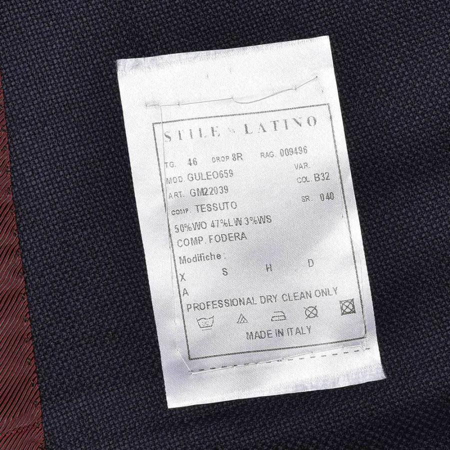 STILE LATINO スティレ ラティーノ ウール ラムズウール カシミヤ ホップサック メタルボタン ダブル6Bジャケット LEO realclothing 11