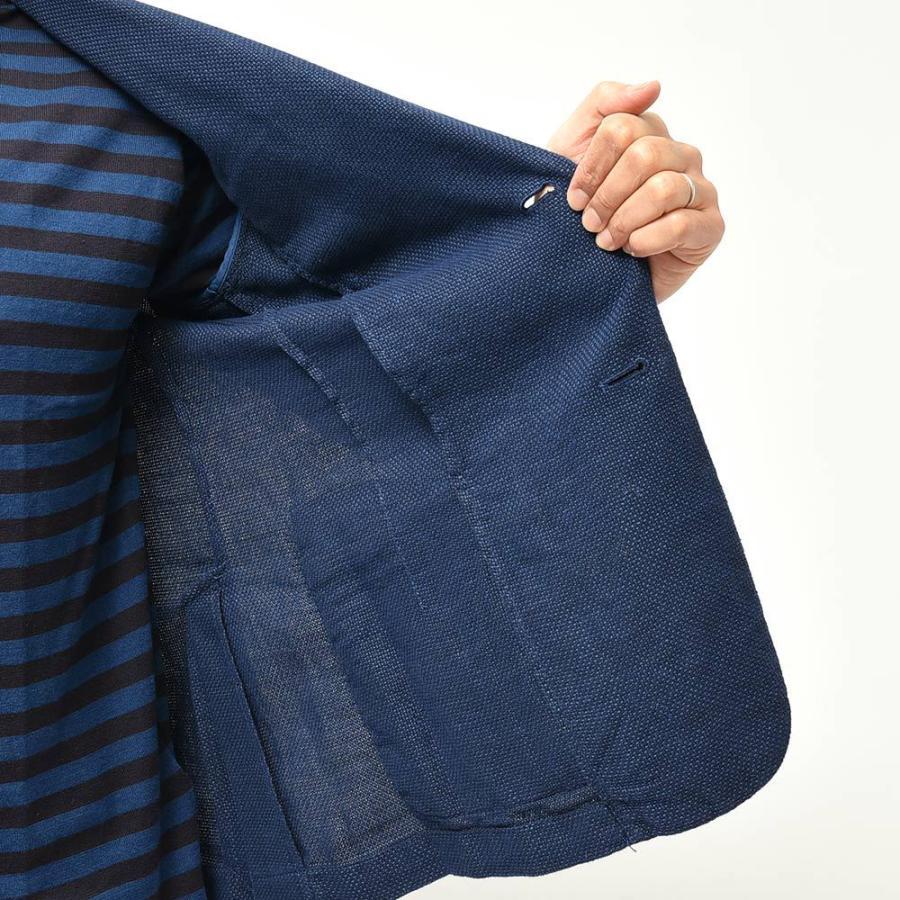 BARENA バレナ リネン コットン ポリエステル ホップサック シングル2Bジャケット|realclothing|06