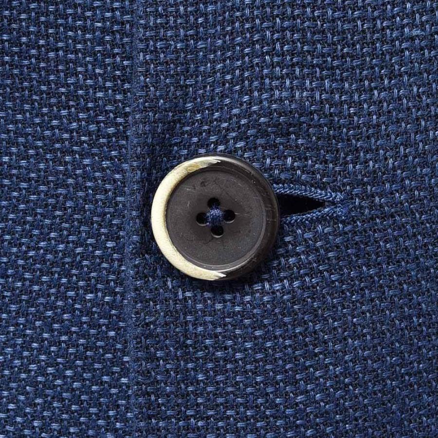 BARENA バレナ リネン コットン ポリエステル ホップサック シングル2Bジャケット|realclothing|08