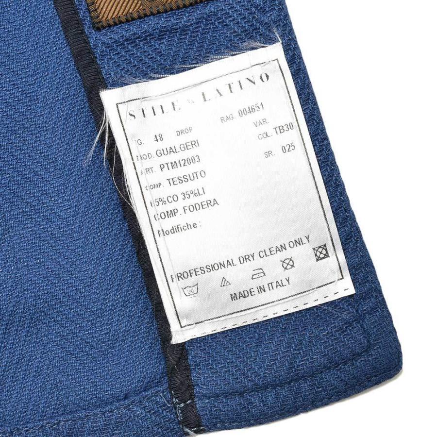 STILE LATINO スティレ ラティーノ ALGERI コットン リネン ヘリンボーン サファリシャツジャケット realclothing 12