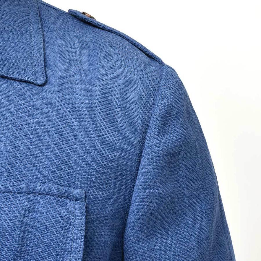 STILE LATINO スティレ ラティーノ ALGERI コットン リネン ヘリンボーン サファリシャツジャケット realclothing 08