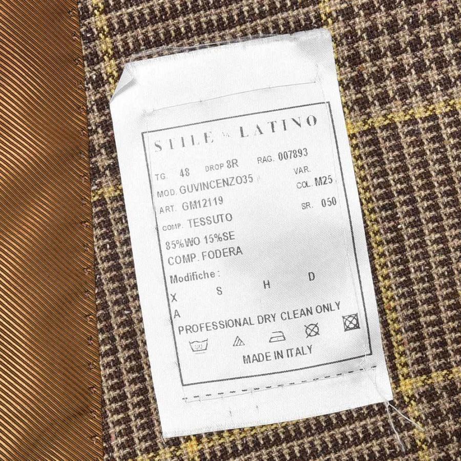 STILE LATINO スティレ ラティーノ ウール シルク グレンチェック シングル3Bジャケット VINCENZO|realclothing|10