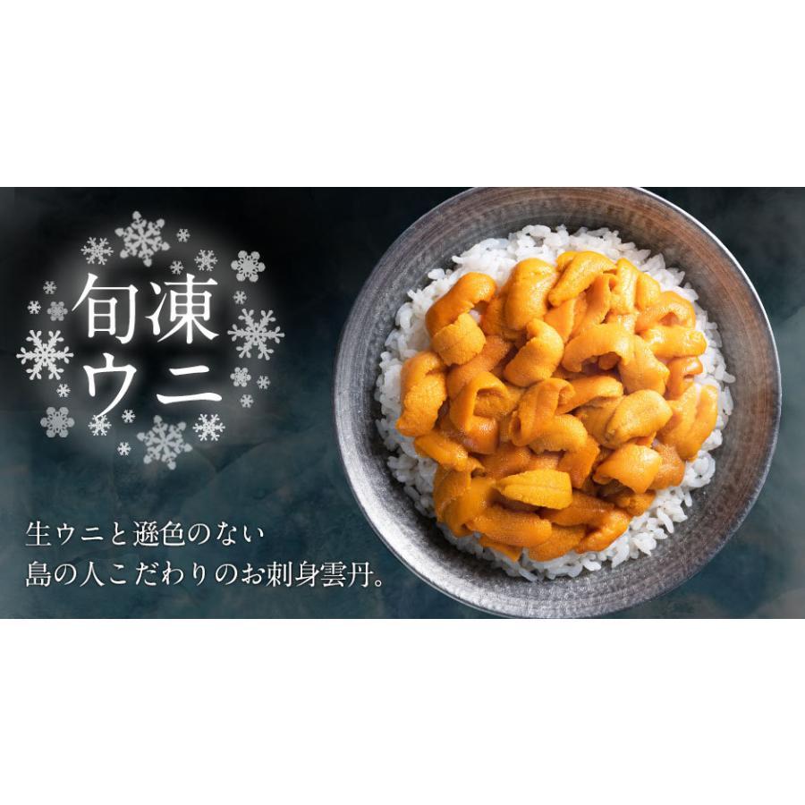 ウニ うに 生ウニ 生うに お取り寄せグルメ 島の人 北海道 礼文島産 3D氷結 バフンウニ 80g エゾバフンウニ 雲丹 ギフト|rebun|06