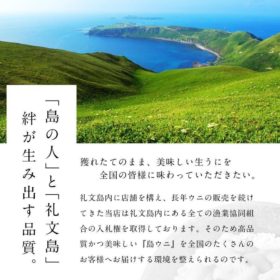 ウニ うに 生ウニ 生うに お取り寄せグルメ 島の人 北海道 礼文島産 3D氷結 バフンウニ 80g エゾバフンウニ 雲丹 ギフト|rebun|07