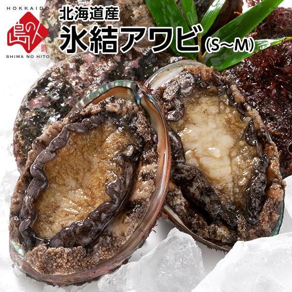 北海道産 氷結アワビ S-Mサイズ