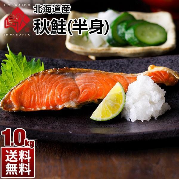 北海道産 秋鮭 1.0kg (半身) 【賞味が近い特価品】