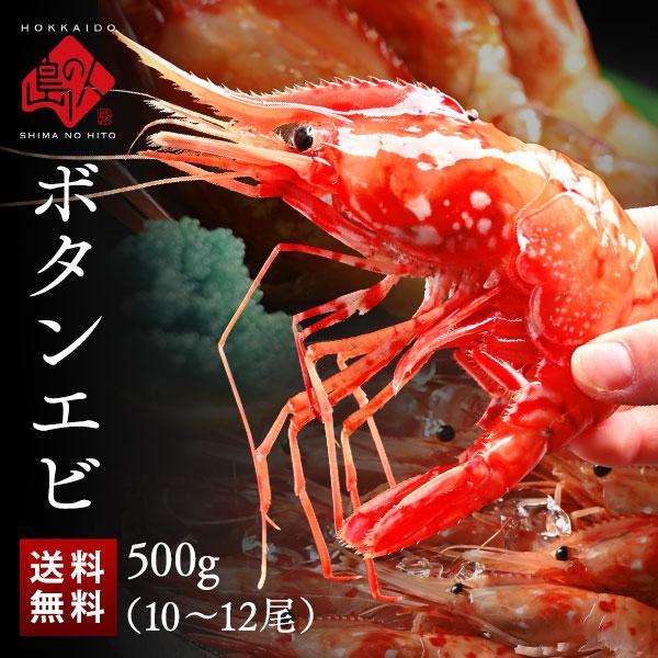 【食べ応え抜群】ロシア産 特大お刺身ボタンエビ500g (9-11尾) 送料無料