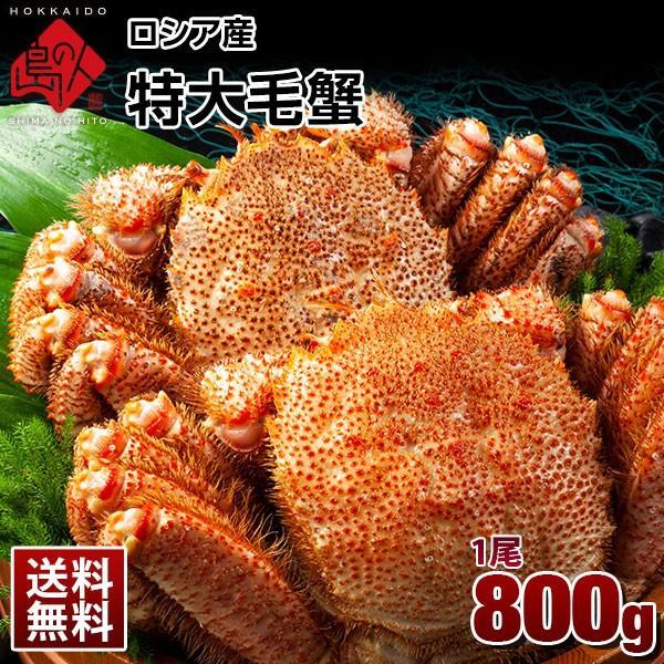 ロシア産 特大毛蟹 (姿) 1尾 800g