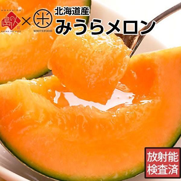 【減農薬 放射能検査済】 三浦さんが育てた北海道の極上みうらメロン 3.2kg(2玉)優品