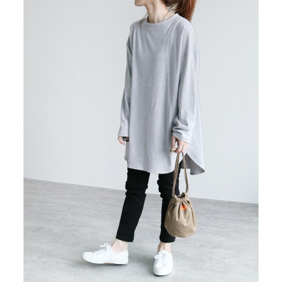 バックプリントロングスリーブTシャツ R21215-k レディース トップス カットソー ロゴT 長袖 ネコポス発送10|reca|15