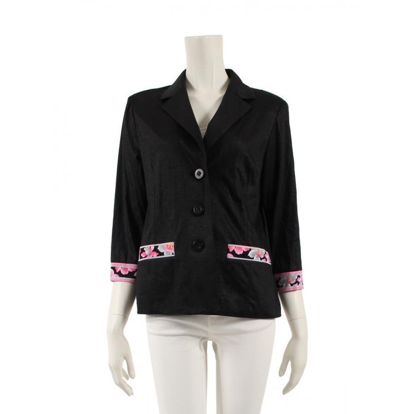 最新最全の レオナールファッション LEONARD FASHION ジャケット 麻 黒 ピンク グレー レディース, ワイン通販 エノテカ d70e975c