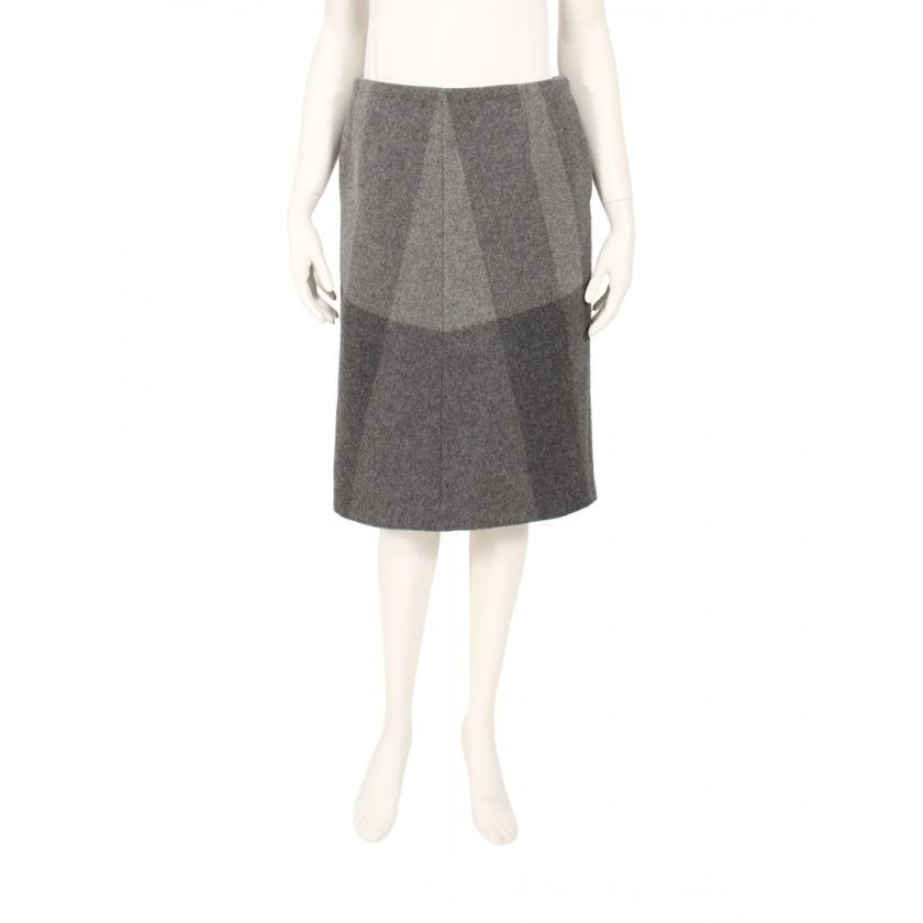 最適な材料 セリーヌ CELINE スカート ウール グレー レディース, 本別町 60bdf228