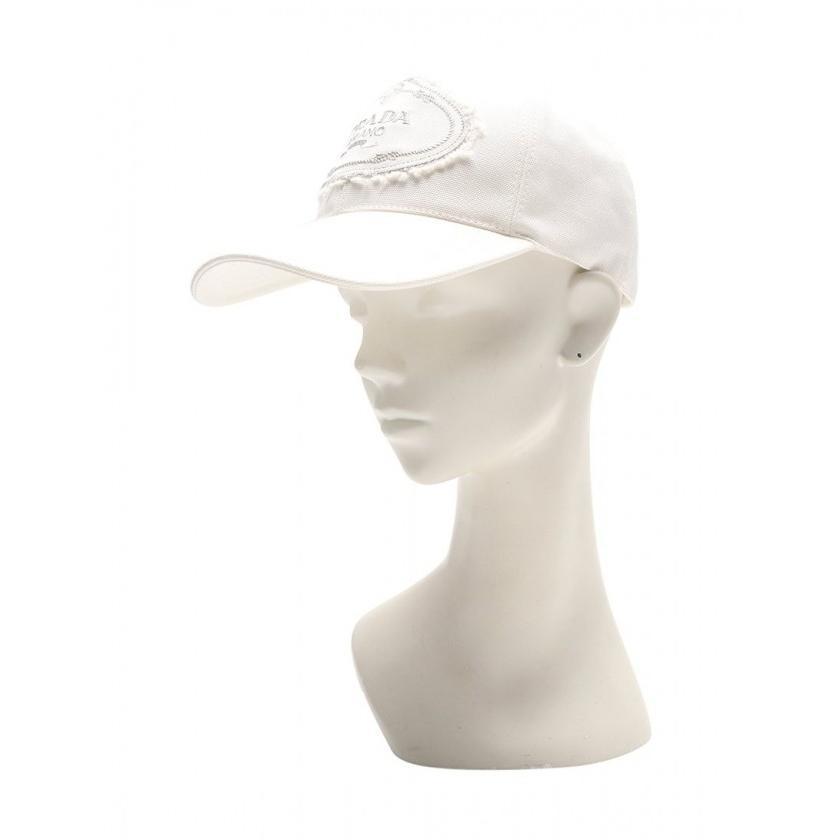 激安直営店 プラダ PRADA キャップ 帽子 ロゴ刺繍 コットン 白 1HC274 レディース, ウラソエシ 32c6b4eb