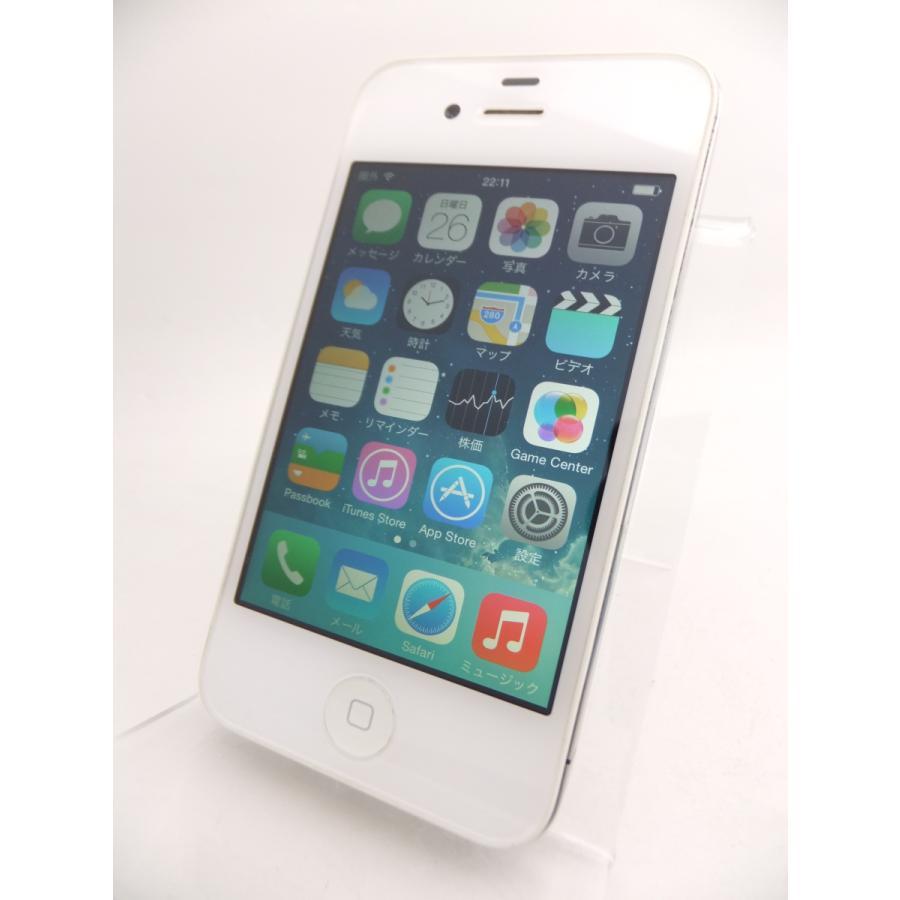 【ソフトバンクSIMロック】 iPhone4 16GB ホワイト MC604J/A #10559|reco