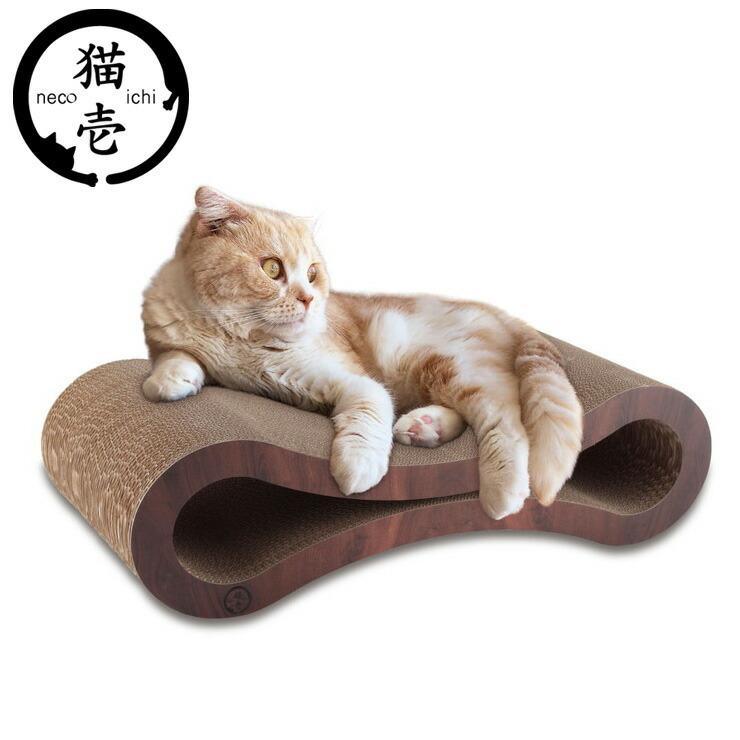 永遠の定番 猫壱 バリバリベッド ループ ダークブラウン ネコ セール商品 ペット用品 爪とぎ