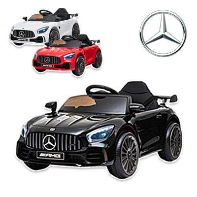 通販 電動乗用カー NEW ARRIVAL Mercedes-AMG GT R プロポ付き メルセデス ベンツ おもちゃ 乗用玩具 ラジコン 電動乗用ラジコンカー RC お子様
