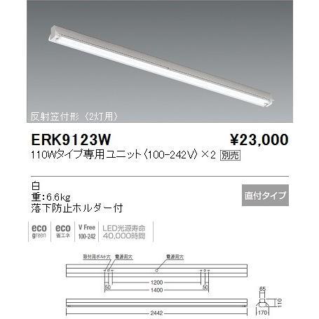 ENDO 遠藤照明 ベースライト ベースライト ベースライト 反射笠付形 ERK9123W 307