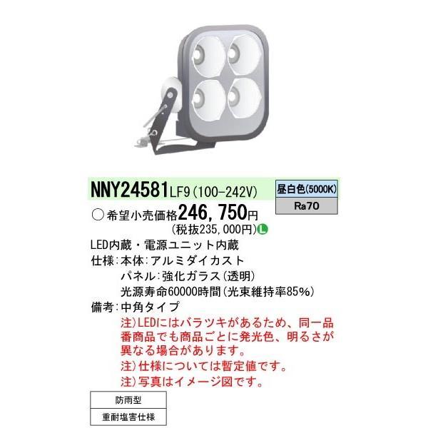 Panasonic パナソニック LED投光器 NNY24581LF9