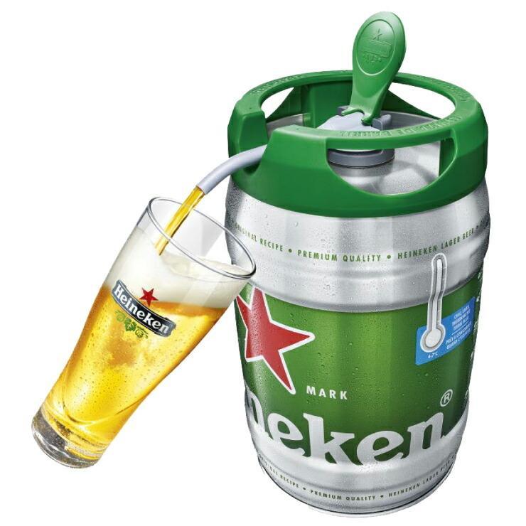 オランダ直輸入 ハイネケン樽生 5リットル 爆安プライス ドラフト ケグ 輸入ビール ビール サーバー ハイネケン トラスト 代引不可