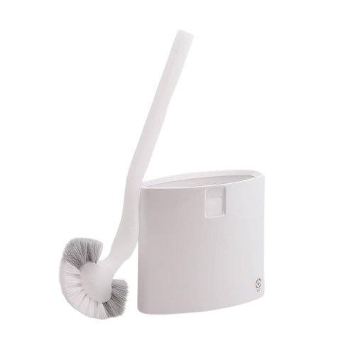 スマート トイレブラシ 期間限定特価品 W-051 マーナ 安い marna ホワイト サニタリー トイレタリー ブラシケース フチ裏 掃除道具 トイレ用品