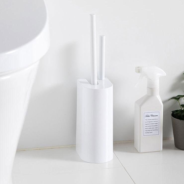 注目ブランド 日本限定 マーナ 2in1 SLIMトイレブラシ W585W MARNA トイレブラシ 卵型トイレブラシとミニブラシですみずみまで洗える ブラシ ホルダー