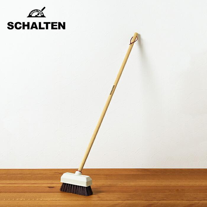 SCHALTEN シャルテン デッキブラシ キャンペーンもお見逃しなく おしゃれ 玄関掃除 ウッドデッキ シンプル タイル バルコニー 掃除用品 日本最大級の品揃え