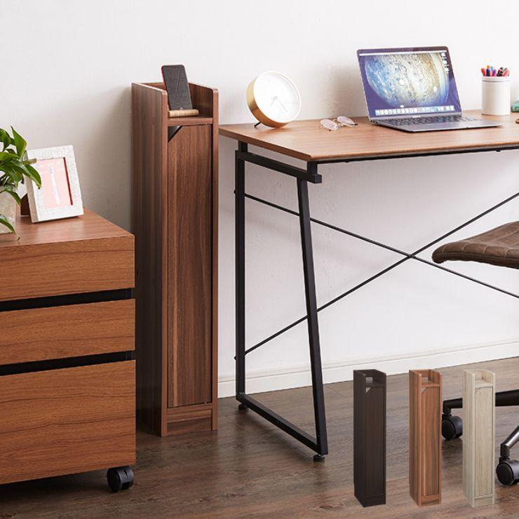 ルーター収納 Wi-Fi 収納 幅15 高さ90cm スリムラック 薄型 日本産 隙間収納 卸売り 電源タップ ナイトテーブル サイドテーブル 電話台
